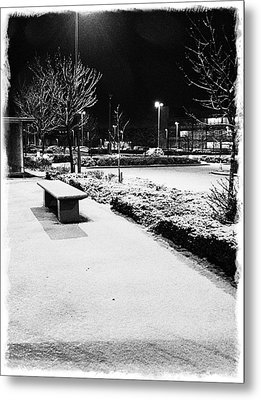 Cold Nights Journey Home Metal Print by Andrew Allsopp