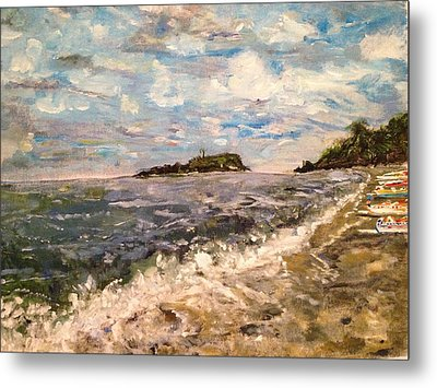 Cold Sea On A Sunny Day Metal Print by Belinda Low