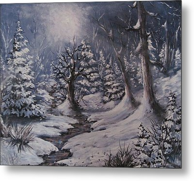 Metal Print featuring the painting Cold Snap by Megan Walsh