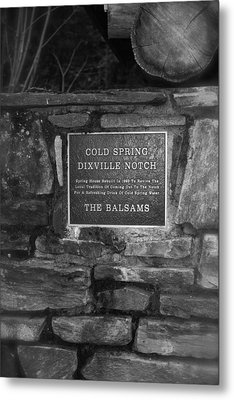 Cold Spring Of Dixville Notch Close-up Metal Print by Robin Regan