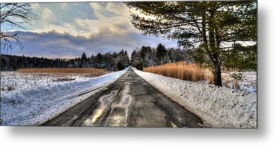 Cold Spring Road - Berkshire County Metal Print