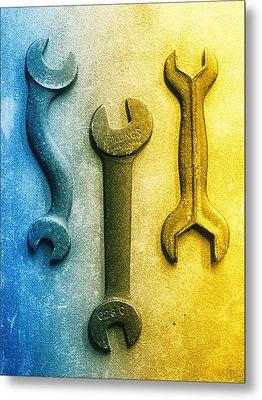 Cold Steel Metal Print by Tom Druin