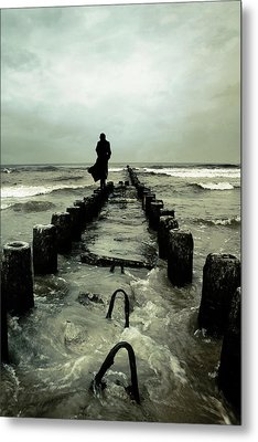Cold Waves Metal Print by Cambion Art