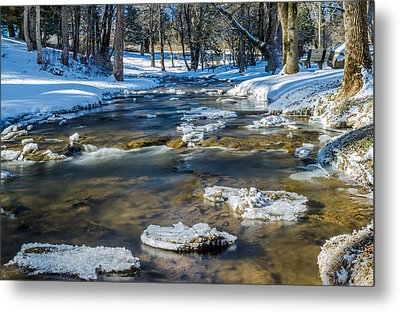 Cold Winter Creek Metal Print