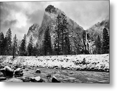 Cold Winter Morning Metal Print by Cat Connor
