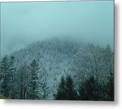 Cold Winter Romania Metal Print by Andreea Alecu