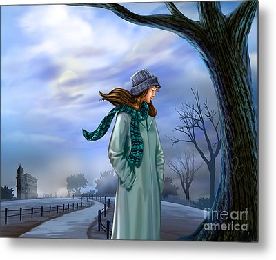 Cold Winter Warm Thoughts Metal Print