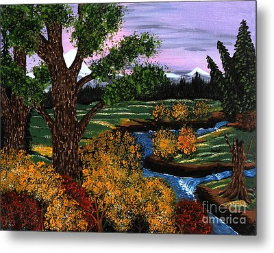 Coldest Mountain Brook Metal Print by Barbara Griffin