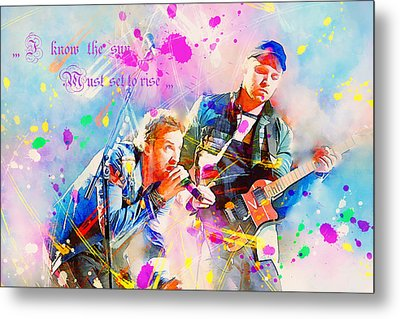 Coldplay Lyrics Metal Print by Rosalina Atanasova