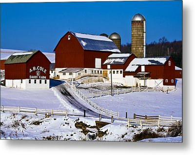 Cole Dairy Farm Metal Print by David Simons