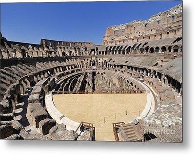 Coliseum . Rome Metal Print by Bernard Jaubert
