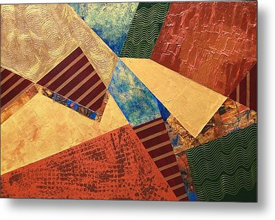 Metal Print featuring the painting Collaboration by Linda Bailey