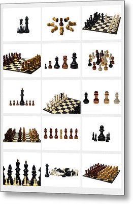 Collage Chess Stories 1 - Featured 3 Metal Print by Alexander Senin