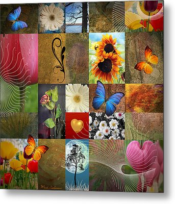 Collage Of Happiness 2 Metal Print by Mark Ashkenazi