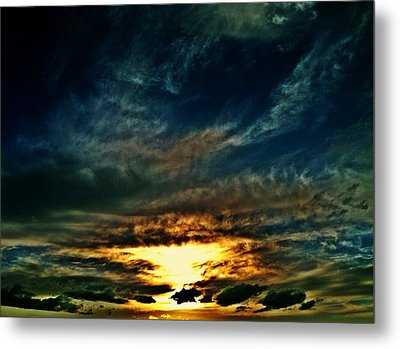 Collapsing Sunset Metal Print
