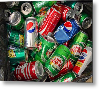 Collection Of Cans 02 Metal Print