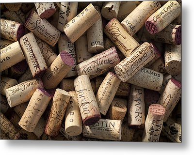 Collection Of Fine Wine Corks Metal Print by Adam Romanowicz