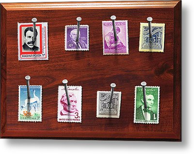Collector - Stamp Collector - My Stamp Collection Metal Print by Mike Savad