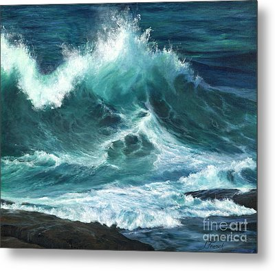 Colliding Tides Metal Print by Jeanette French