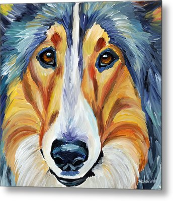 Collie Metal Print by Melissa Smith