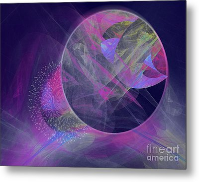 Metal Print featuring the digital art Collision by Victoria Harrington
