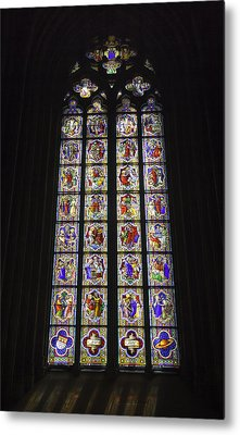 Cologne Cathedral Stained Glass Life Of Christ Metal Print