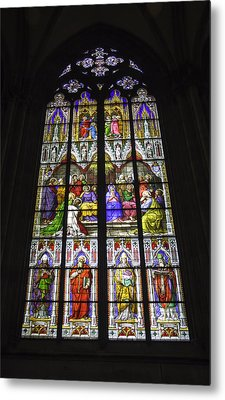 Cologne Cathedral Stained Glass Window Of Pentecost Metal Print by Teresa Mucha