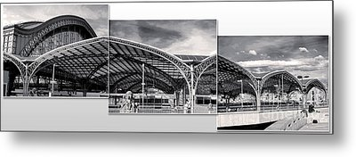 Cologne Central Train Station - Koln Hauptbahnhof - 02- Bw Metal Print by Gregory Dyer