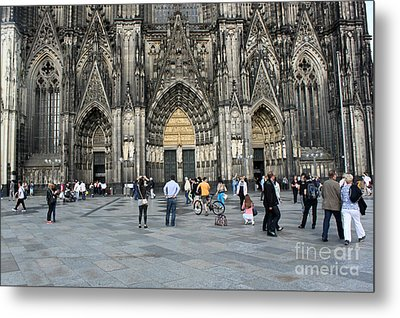 Cologne Germany - High Cathedral Of St. Peter - 17 Metal Print by Gregory Dyer