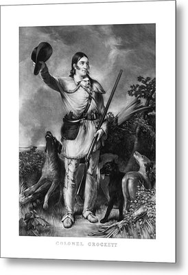 Colonel Davy Crockett Metal Print by War Is Hell Store