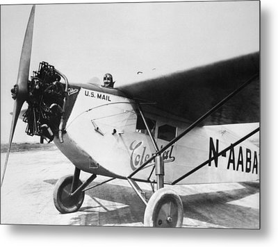 Colonial Air Transport Metal Print by Henri Bersoux