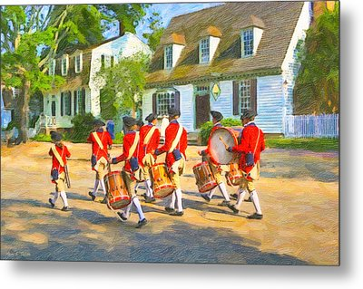 Colonial American Marching Band Metal Print by Mark E Tisdale