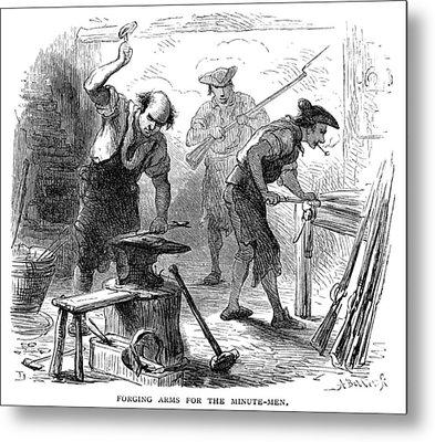 Colonial Blacksmith, 1776 Metal Print by Granger