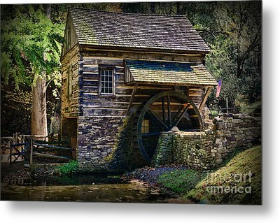 Colonial Grist Mill Metal Print