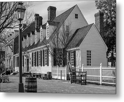 Metal Print featuring the photograph Colonial Williamsburg  by Trace Kittrell