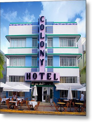 Colony Hotel Daytime Metal Print