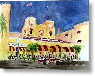 Colony Hotel In Delray Beach Metal Print by Donna Walsh