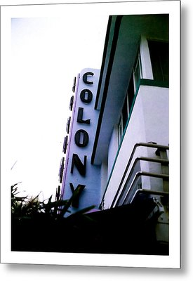Colony Polaroid Metal Print