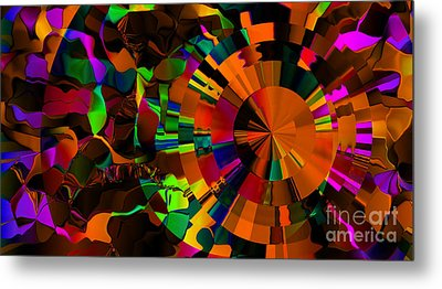 Color Burst - Orange Metal Print