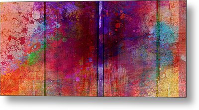 Color Burst Two Abstract Art  Metal Print by Ann Powell