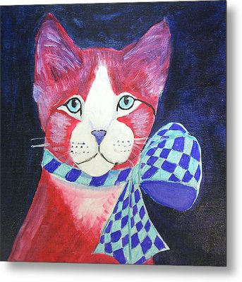 Color Cat 10 Metal Print