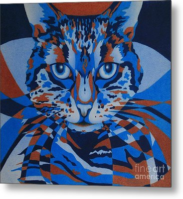 Metal Print featuring the painting Color Cat IIi by Pamela Clements