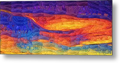 Metal Print featuring the digital art Color Explosion by Kirt Tisdale