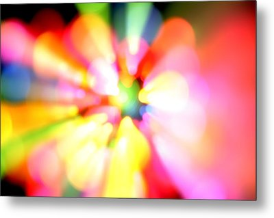 Color Explosion Metal Print by Les Cunliffe