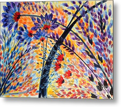 Color Flurry 3 Metal Print by Holly Carmichael