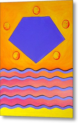 Color Geometry - Pentagon Metal Print