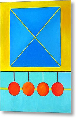 Color Geometry - Square Metal Print