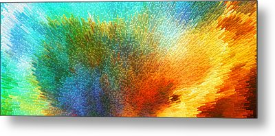 Color Infinity - Abstract Art By Sharon Cummings Metal Print