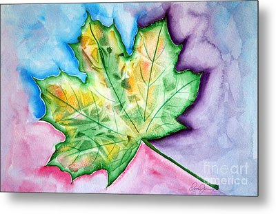 Color Leaf Metal Print by Dani Abbott