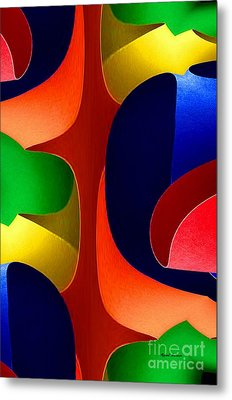 Metal Print featuring the digital art Color Maze by Rafael Salazar